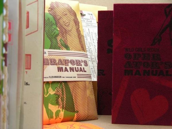 Artist's Book, Ellen Knudson, Wild Girls Redux: An Operator's Manual